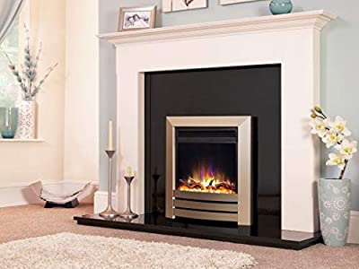 "New Designer Celsi Fire - Hearth Mounted Electric Fire 16"" Electriflame XD Camber Champagne"