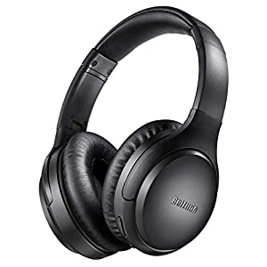 Active Noise Cancelling Headphones  Bluetooth 5.0 Over Ear Wireless Headphones with Mic Deep Bass