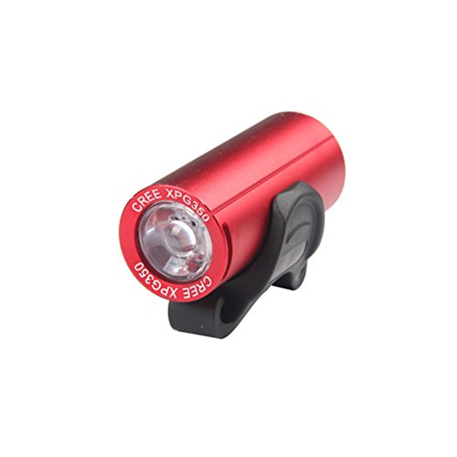CLISPEED Luce Anteriore Bici Bicicletta Impermeabile Ricaricabile USB 300 Lumens XPG Luce per Bici da Strada MTB (Rosso)