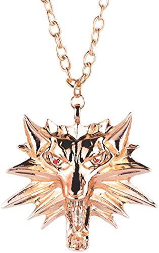 PPQKKYD Collar Punk Hip Hop señoras Hombres película Personajes Colgante Collar Cristal Cadena de Diamantes de imitación Collar Creativo Collar Joya
