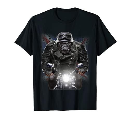 United Kingdom Patriot Gorilla Ride Motorrad Biker T-Shirt
