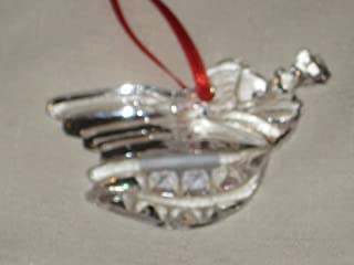 Vintage Gorham Crystal Christmas Angel Tree Ornament 2 x 2 1/2 Inches - Made In Germany