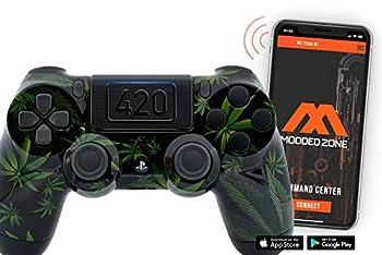 420 Black Custom PS4 PRO Rapid Fire Custom Modded Controller 40 Mods for All Major Shooter Games