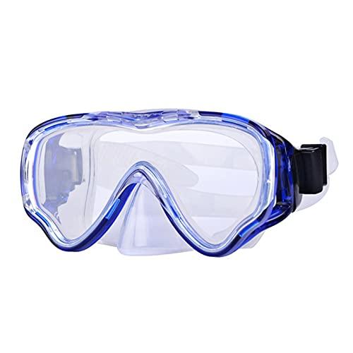SONG Máscara de Snorkel Portátil Gafas Anti-Niebla de Alta definición portátil Gafas de Buceo Amplia Gafas de Buceo panorámicas Adecuadas para niños para Nadar Snorkel de Buceo Gratis (Color : Blue)