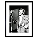 Vintage Photo Singer FRANK Sinatra New York Framed Art