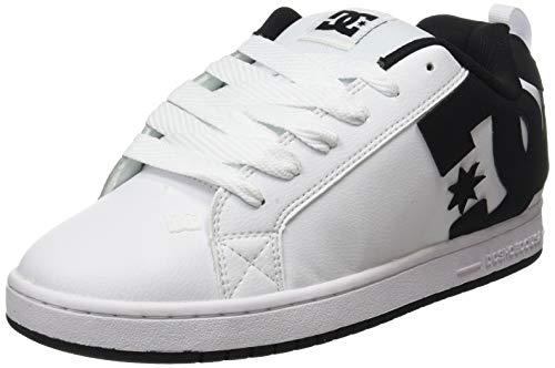 DC Shoes Court Graffik, Scarpa da Skate Uomo, White/Black/Black, 41 EU