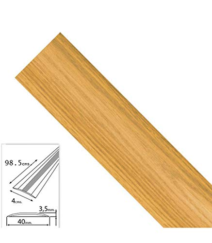 WOLFPACK LINEA PROFESIONAL 2541130 Tapajuntas Adhesivo para Moquetas Metal Roble 98,5 cm