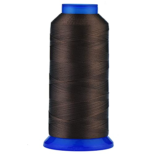 Selric [1500Yards / 30 Colors Available] UV Resistant High Strength Polyester Thread #69 T70 Size 210D/3 for Upholstery, Outdoor Market, Drapery, Beading, Purses, Leather ( Chocolate Brown )