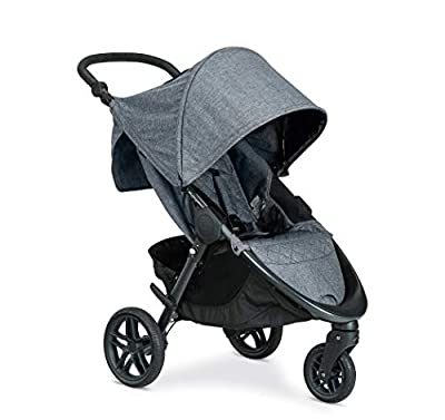 Britax B-Free Stroller, Vibe | All Terrain Tires + Adjustable Handlebar + Extra Storage with Front Access + One Hand, Easy Fold
