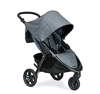 Britax B-Free Stroller   All Terrain Tires + Adjustable Handlebar + Extra Storage with Front Access + One Hand Easy Fold Vibe