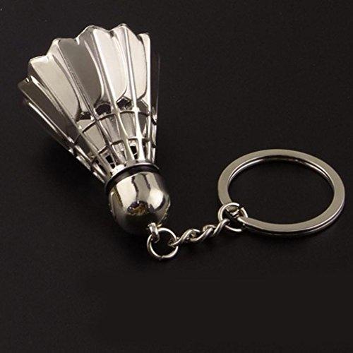 Gaddrt Plein air de badminton modèle porte-clés en plein air clés porte-clés pendentif anneau cadeau, 1pc