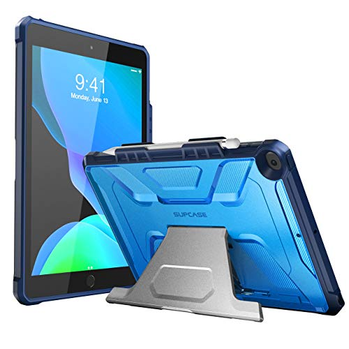SupCase Designed for iPad 10.2 2019, iPad Air 3 Case, [UB Series] with Built-in Apple Pencil Holder Full Body Rugged Protective Case for iPad 10.2 Inch 7th Generation, iPad Air 3 10.5 Inch (Blue)