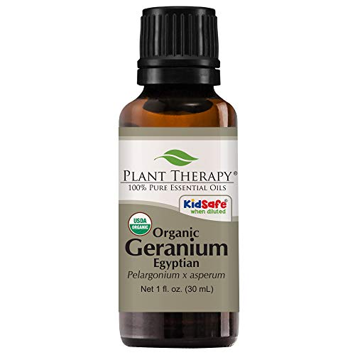 Plant Therapy Geranium Egyptian Organic Essential Oil 100% Pure, USDA...