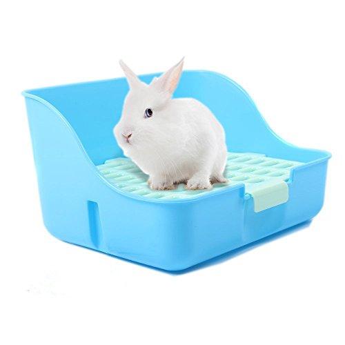 Rabbit Cage Litter Box Entrenador de Orinal fácil de limpiar para Animales Pequeños / Conejo / Conejillo de indias / Hurón ⭐