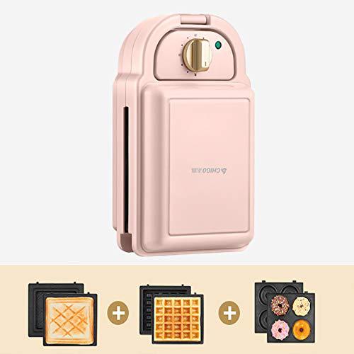 Smzj Timing Appareil à Sandwich Mini Gaufrier/Waffle Maker Home Toastie Maker Presse à Paninis,une VariéTé de Plateaux de Cuisson à Choisir Remplissage Profond/Rose/C