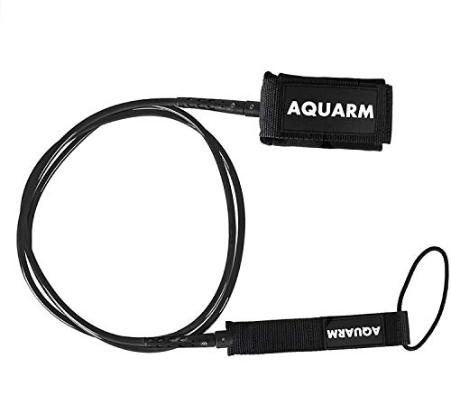 AQUARM Surfboard Leash 6/7/8/9 Feet Straight Leg Rope Premium SUP Leashes Ankle for Surfing
