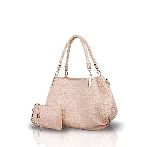 NICOLE&DORIS Borse a spalla da donna 2 pezzi Borsa a mano alla moda borse da donna in pelle