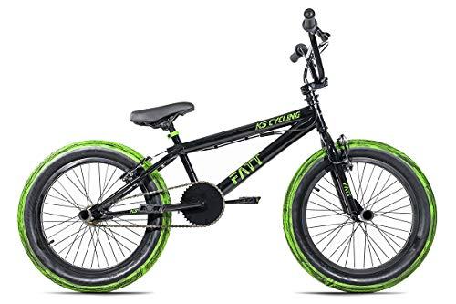 KS Cycling BMX Freestyle 20'' Fatt Noir Jeunesse Unisexe, 25