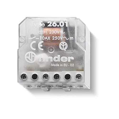 Finder 260182300000PAS Stromstoßschalter für Montage in Unterputzdose, 230VAC, 1Schließkontakt, 10A