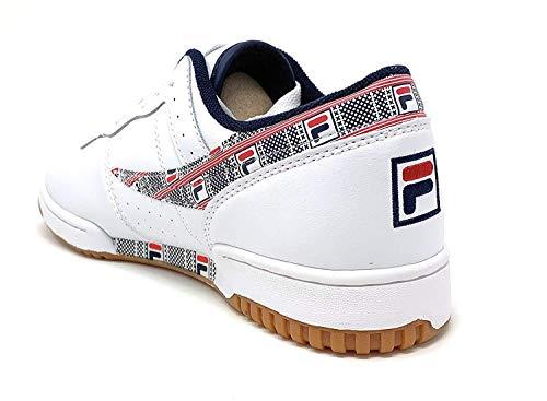 Fila Men's Original Fitness Haze Sneakers White/Navy/Red 9.5