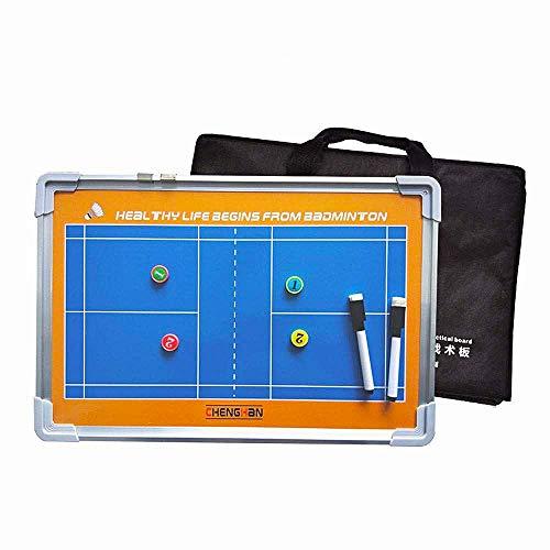 ZJIAN Badminton Taktiktafel wiederbeschreibbar hängen Aluminium legierungs Rahmen Professional Training Anleitung Werkzeug Badminton-Taktikbrett für Taktiken und Spielanpassungen
