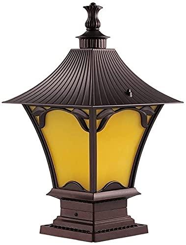 Lámpara al aire libre Post Lights Impermeable Vintage Columna Faro Lámpara de pared al aire libre Lámpara de pared Impermeable Aplique Lámparas Exterior Lámparas Retro Linterías Linterna Linterna Lint
