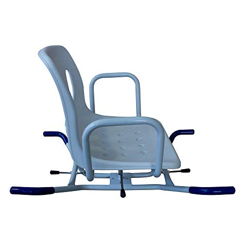 Badestuhl, Badsitz für Ältere und Behinderte, Mobiclinic, drehbarer Duschstuhl mit Armlehnen und Rückenlehne, anatomisch geformt, ergonomisch, leicht, einstellbar
