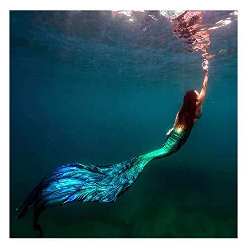 Coda Sirena Costume da Bagno Mermaid Cosplay Costumi per Adulti/Bambini/Uomini/Donne/Piscina/Festa/Esterno/Foto Coda da Sirena(Color:Multicolor 5)