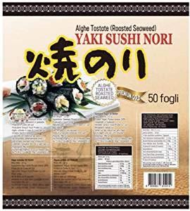 PaC Sushi Nori Sushinori - Alghe per Sushi (100 fogli) / Sushi Nori - Seaweed for Sushi (100 sheets) - 250 g
