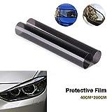Pellicola per auto Riloer, pellicola vinilica per fari, luce posteriore, fendinebbia posteriore, nero chiaro, 40 * 200 cm