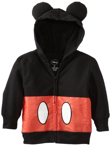 Disney Little Boys' Toddler Mickey Mouse Hoodie, Black, 4T