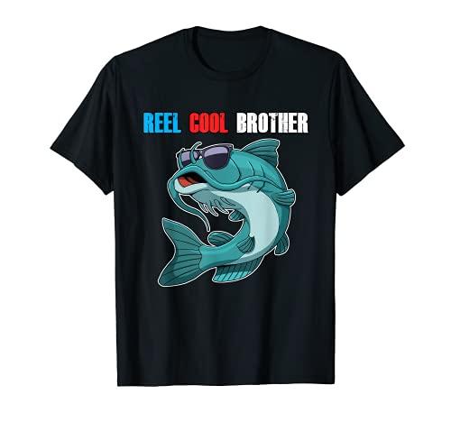 Bagre En Gafas De Sol Carrete Fresco Hermano Día De Padre Pesca Camiseta