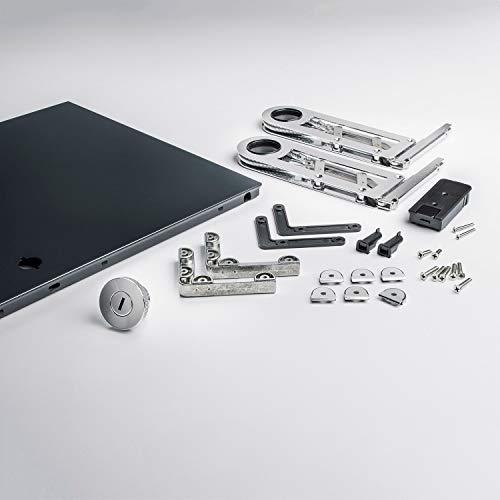 Kit d'installation complet pour avant/klapptüre uSM haller system 750 x 350 rAL 7016 anthracite