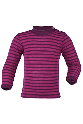 Engel Baby Pulli, Wolle Seide, Natur, Gr. 62/68-110/116, 2 Farben (98/104, Himbeere/Orchidee)