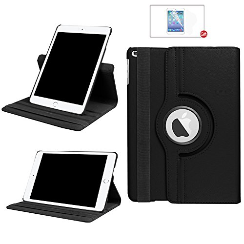 ARECY iPad 360 Degree Rotation PU Leather Smart Cover with Stand Function black Black  iPad 10.2 iPad 7.Generation(2019)