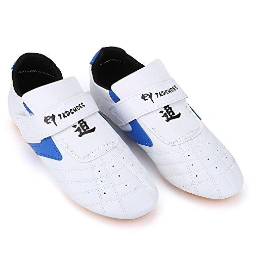 VGEBY Taekwondo Schuhe, Unisex Kinder Erwachsene Leichte Kampfsport Sneaker für Taekwondo, Boxen, Karate, Kung Fu und TaiChi, Weiß - weiß - Größe: 37 EU