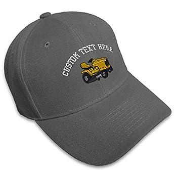 Custom Baseball Cap Riding Lawn Mower B Embroidery Cars & Transportation Trucks #2 Acrylic Hats for Men Women Strap Closure Dark Grey Personalized Text Here