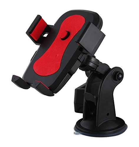 Alexvyan Certified Car Mobile Holder/Stand Adjustable with Windshield Mount with Quick One Touch Technology for Mobile Phones