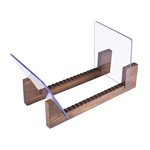 N/W Schallplattenständer Holz Retro Vinylplatten Aufbewahrung Box aus Kiefernholz mit robustem transparentem Acrylhalter für bis zu 25 Alben