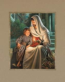 Simon Dewey Ye are The Light of The World 11x14 Mat- Jesus Christ