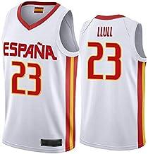 WOLFIRE WF Camiseta de España 2019, Mundial de China de Baloncesto. Llul, Gasol, Rubio. Estampado, Transpirable y Resistente al Desgaste Camiseta para Fan. Hombre