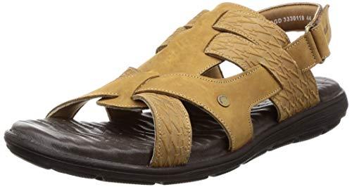 Woodland Men's 3330119 Camel Leather Sandal-8 UK (42 EU) (9 US) (OGD 3330119CAMEL)