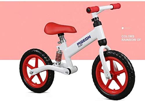 Cómodo Balance de Bicicletas, for niños y niñas de 2-6 años No se Pedal Aprender a Montar la Rueda de Espuma del Asiento Ajustable Amortiguador de Acero al Carbono Bici del Deporte de Caminar