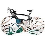 Cubierta de rueda de bicicleta Patrón exótico sin costuras de moda Palma-polvo Bolsa de almacenamiento interior para bicicleta Paquete de llantas de alta elasticidad lavables a prueba de rayones