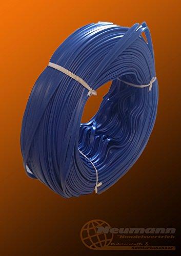 10 Meter PVC - Keder mit Fahne - Kederband in Marine Blau 3 mm x 8 mm