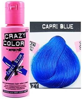 Renbow 2 X Crazy Colour Semi Permanent Hair Dyes 100ml (Capri Blue)