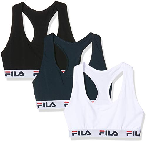 Fila Damen Sport-BH FILA/AM/BRAX3 (3er Pack), Mehrfarbig, X-Small