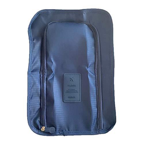 WOIA Bolsa organizadora de Bolsa de Almacenamiento de Zapatos con Caja de Zapatos Gruesa portátil Impermeable de Viaje, Azul Oscuro