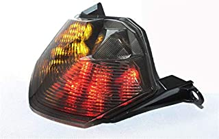 HTTMT - For Kawasaki 2007-2012 Z750 2007-2008 Z1000 2008-2010 ZX-10R ZX1000 2009-2012 ZX-6R ZX600 Motorcycle Smoke Led Tail Light Brake Light with Integrated Turn Signals Indicators [P/N: MT199-SK]