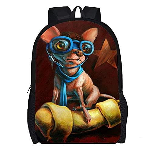 DBCJVB Todo tipo de exquisitos perros de tela Oxford con mochila estampada...